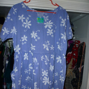NWT Fresh Produce lavender white floral dress XL
